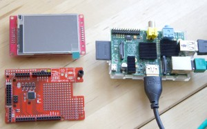 Display, Pi, and the Watterott's new RPi-ShieldBridge